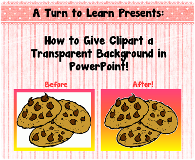 Change clipart background to transparent.