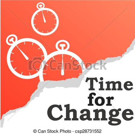 Clipart Vector of time for change background.