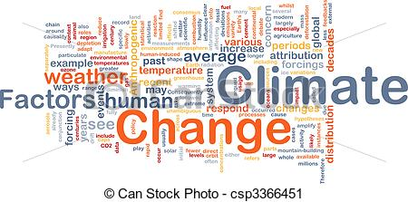 Clipart of Climate change background concept.