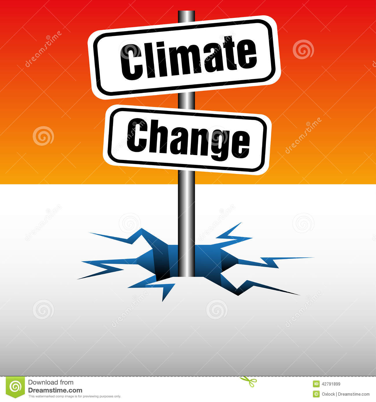 Climate Change Plate Stock Vector.