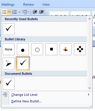 Change the bullets to an officecom clipart.