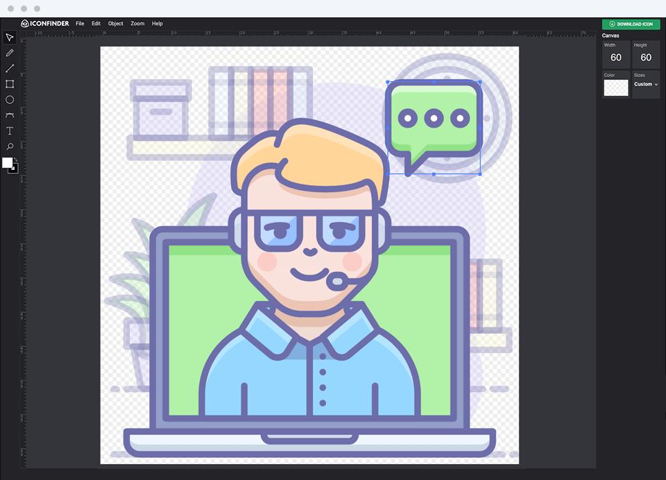 Iconfinder Icon Editor.