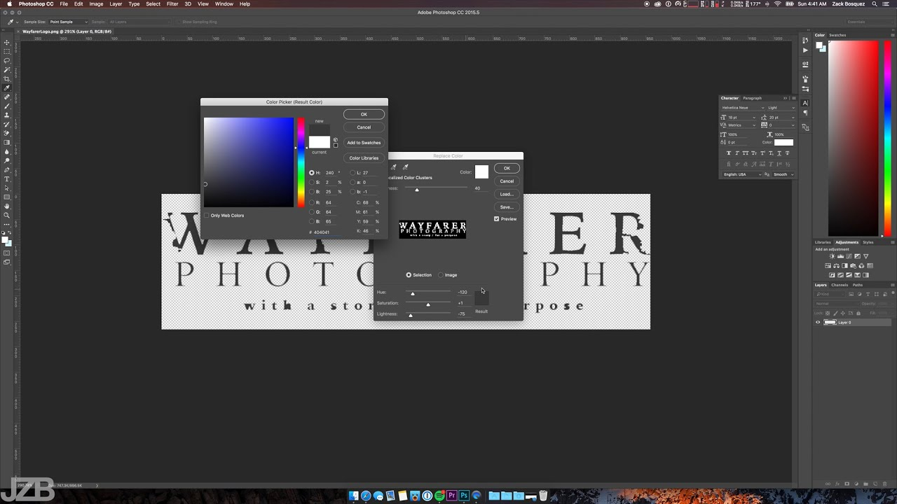 How To Quickly Change an Image or Logo Color in Photoshop.