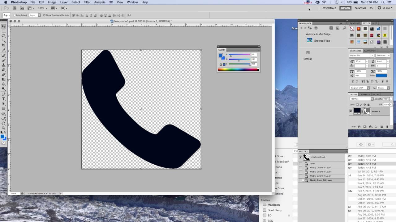 How to Change an Icon Color in Adobe Photoshop.