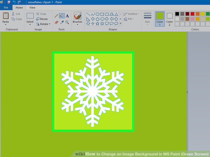 How to Change an Image Background in MS Paint (Green Screen).