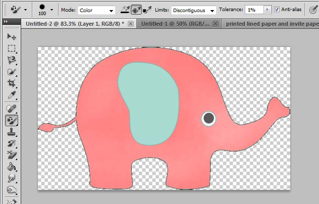 Change the color of clip art to a specific color.