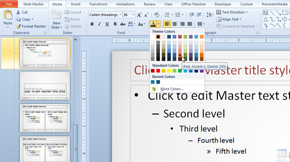 How to change the color of clipart on powerpoint.
