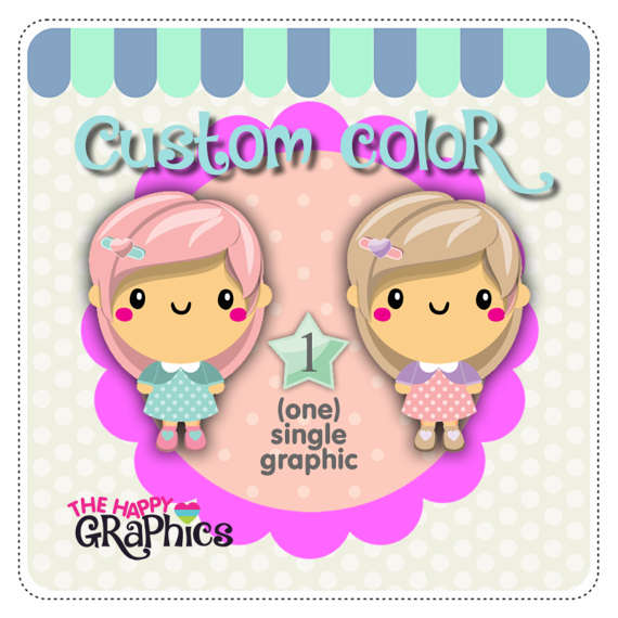 Custom Color, Clipart Color, COMMERCIAL USE, Recolour Clipart.