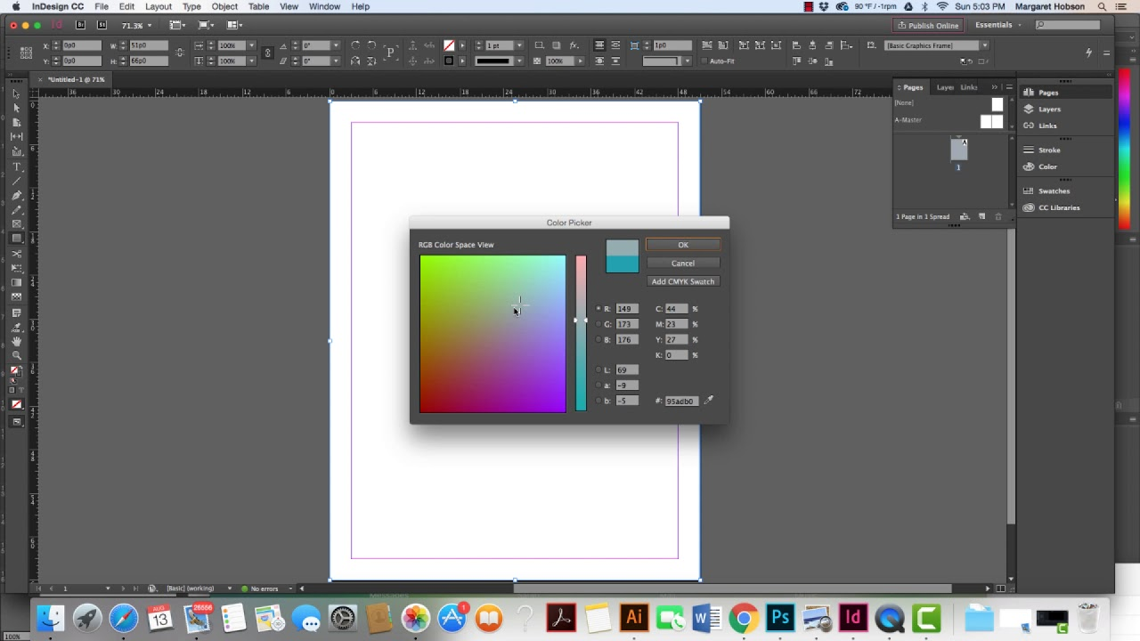 How to Add a Color Background to your InDesign Project.