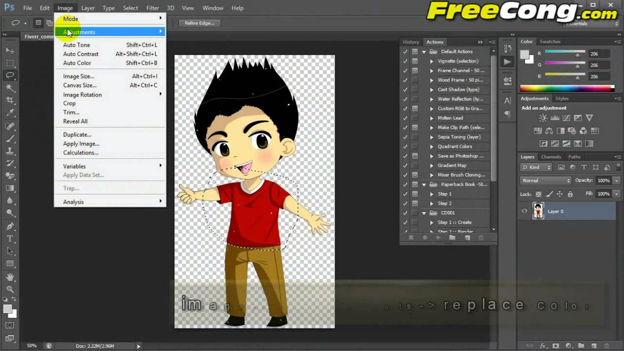 How to Change or Replace a Color in a Logo, Photo, Image with Photoshop  Tutorial.