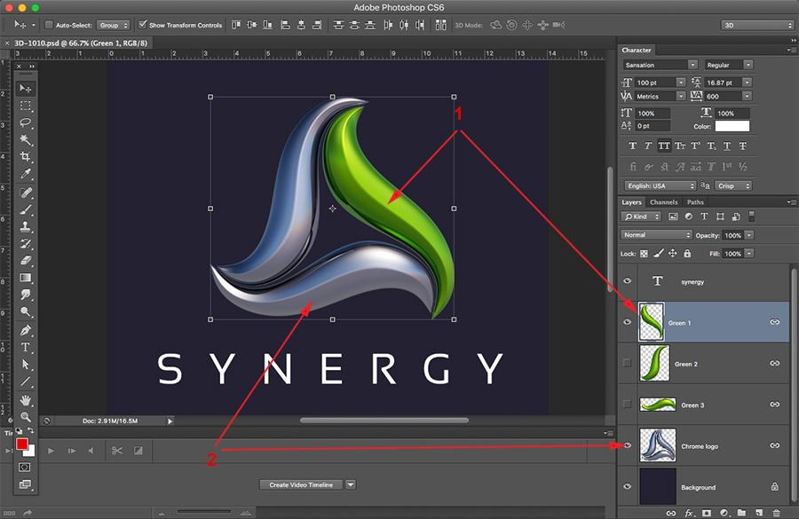How To Change Color on 3D logos.