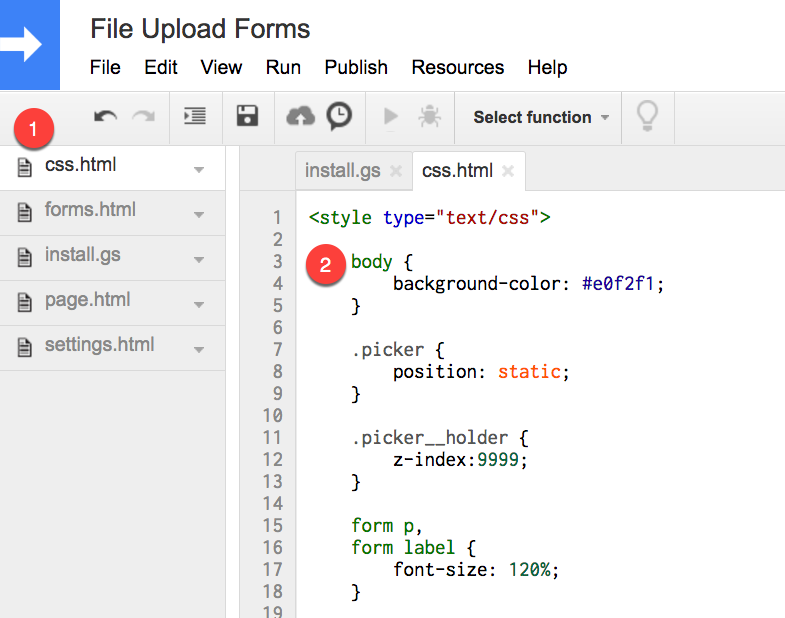 How to Change the Colors of File Upload Forms.