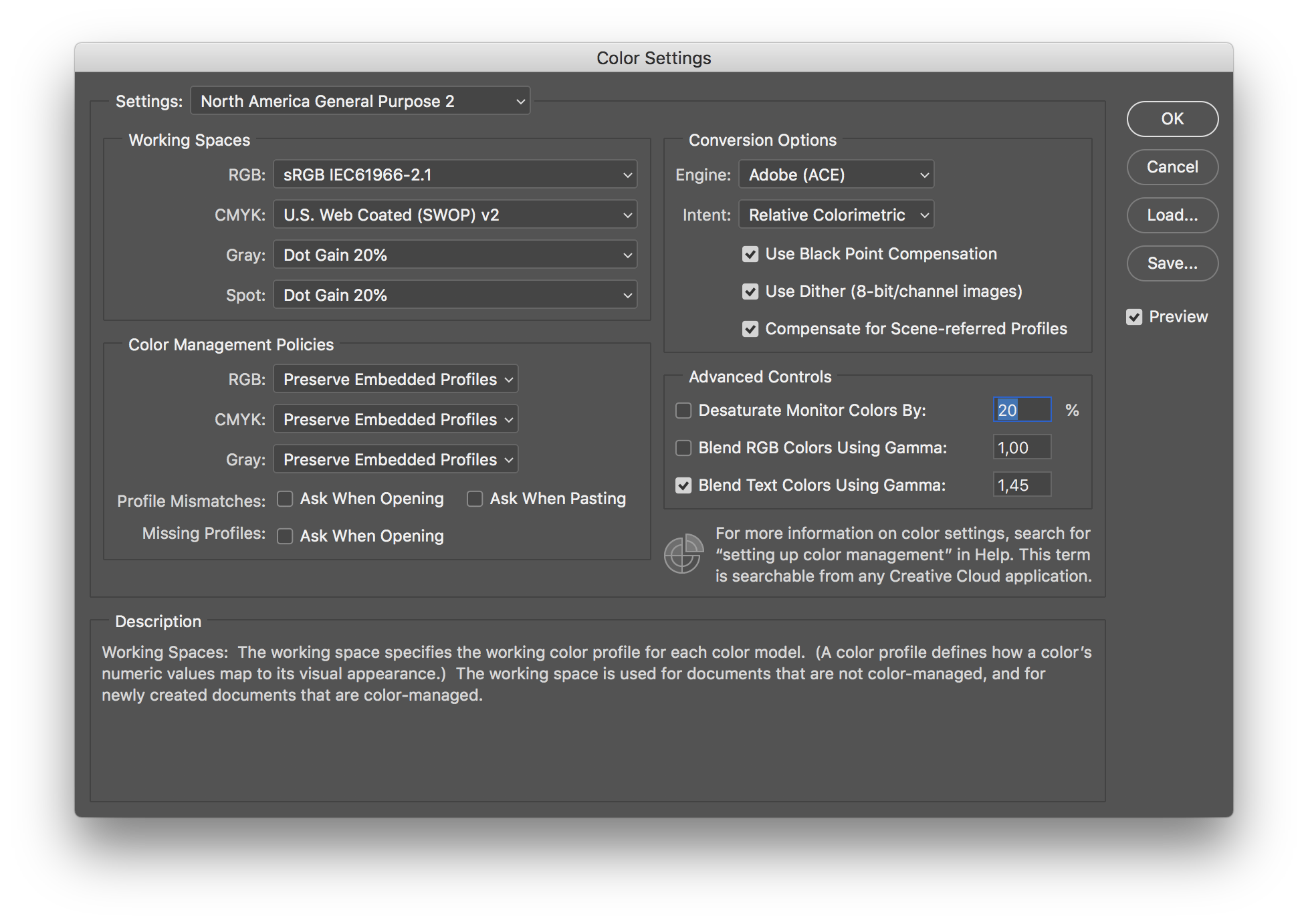 Photoshop: color profile keeps changing to ProPhoto RGB instead of.