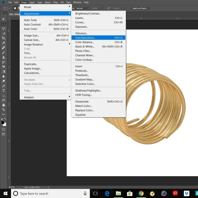 How to Change Color from Gold to Silver and Rose Gold in Photoshop.