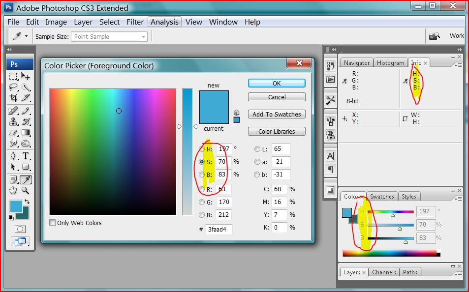Photoshop Change Icon Color #424779.