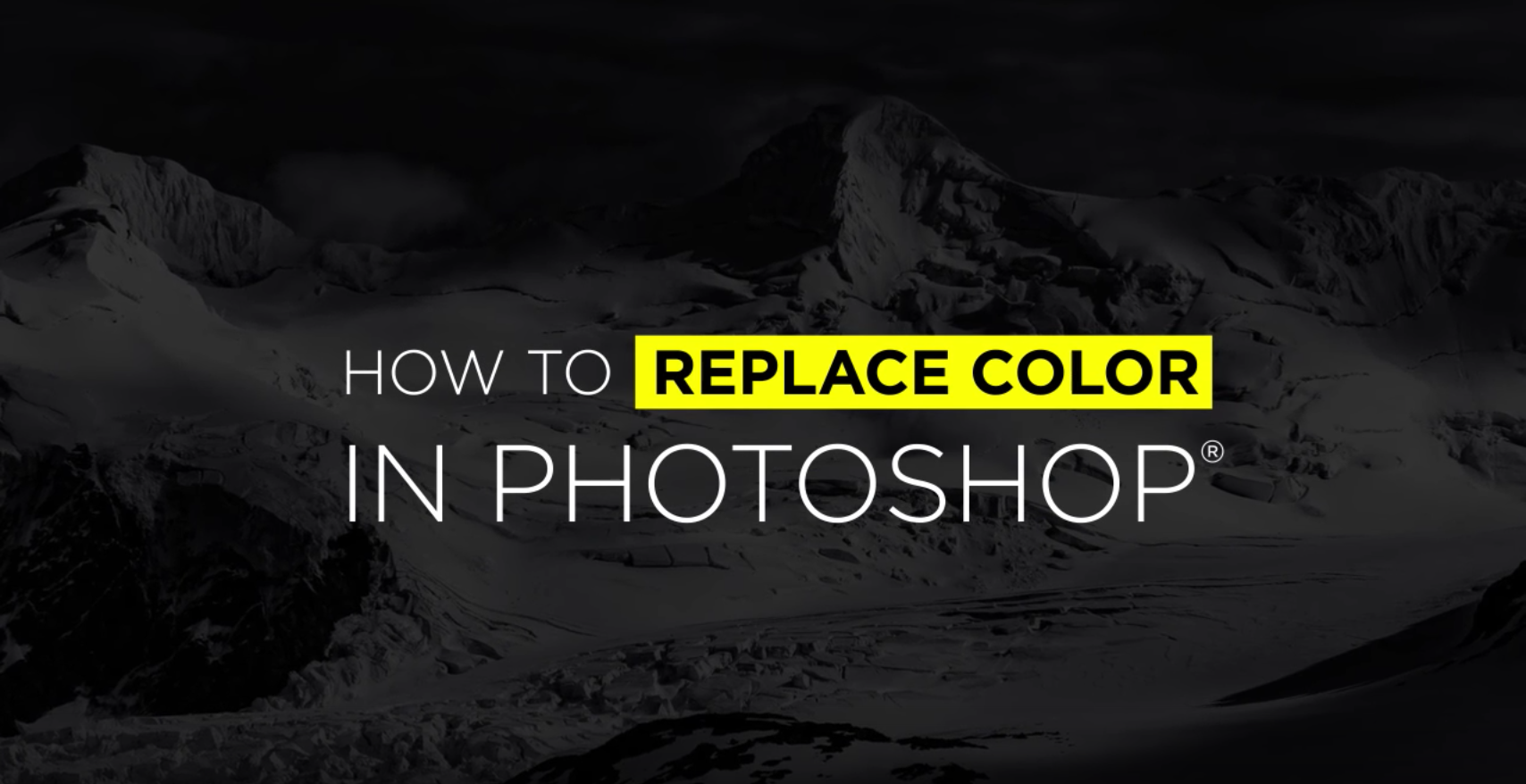 How to Replace Colors in Photoshop.