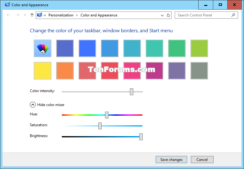Change Color and Appearance in Windows 10 Windows 10 Customization.