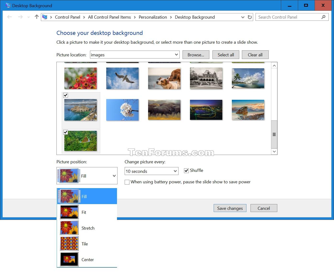 Change Desktop Background in Windows 10 Windows 10 Customization.