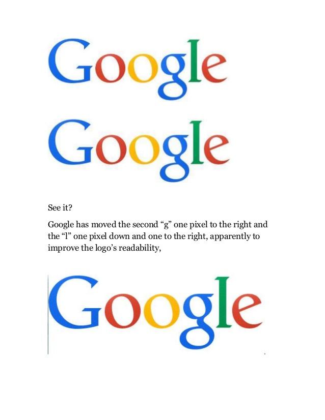 Change in Google Logo.