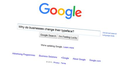 Google logo: Why do businesses change their typeface?.