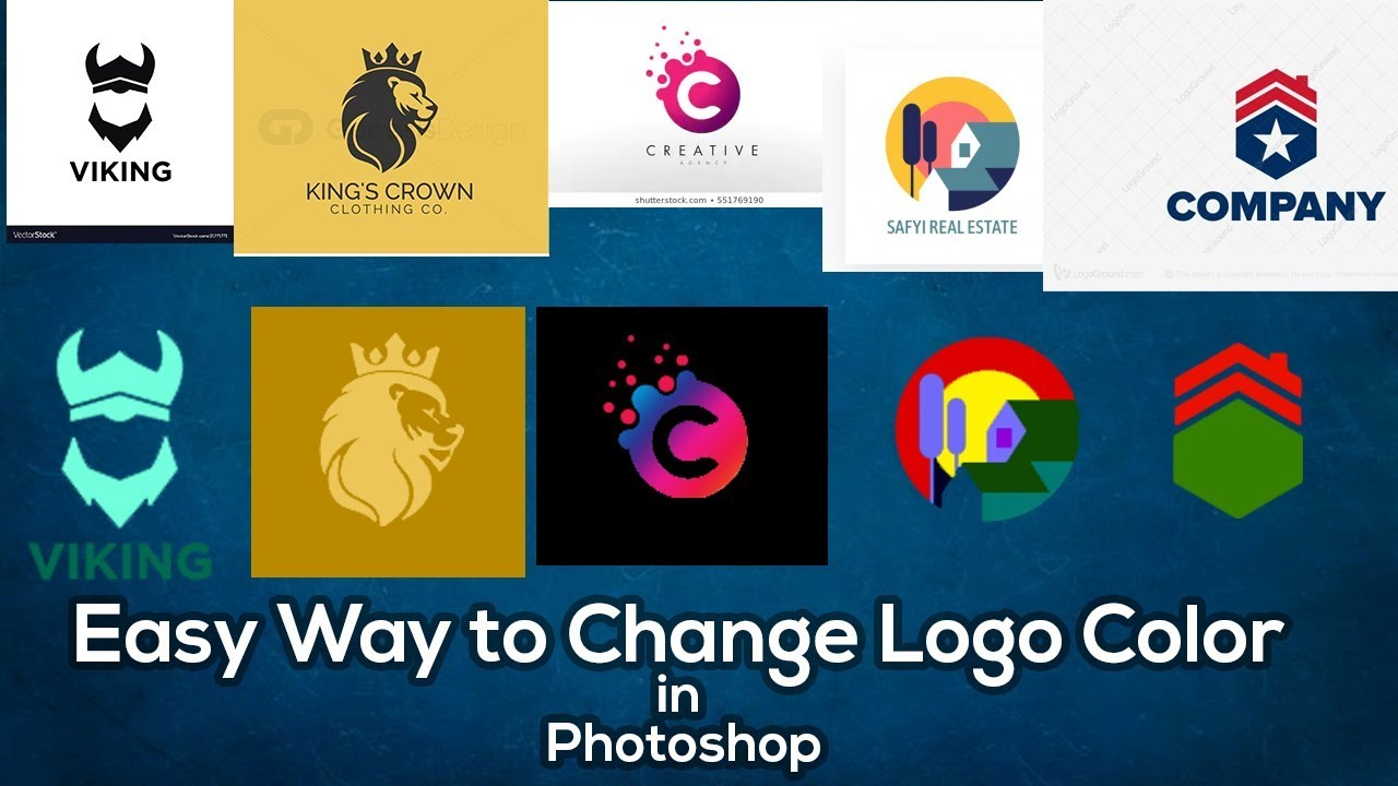 Easy way to change Logo Color in Photoshop.