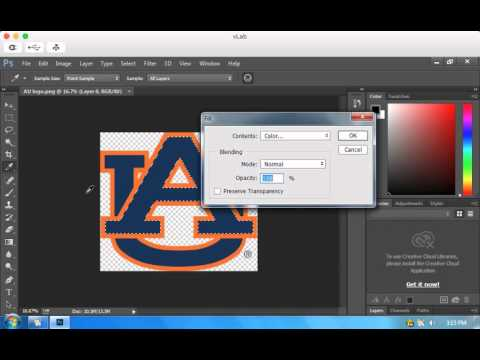 How to change the color of a logo using Photoshop.