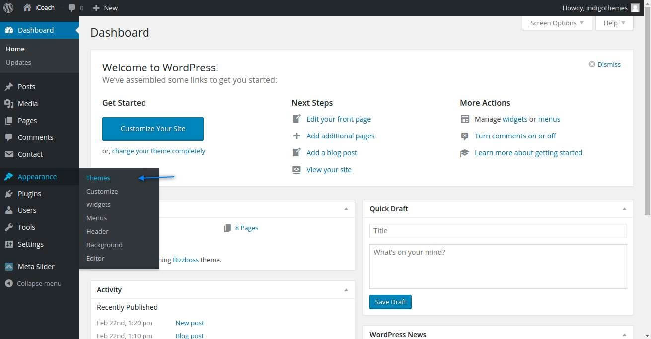 iCoach WordPress Theme.
