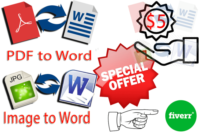 convert pdf to word, image to word and edit PDF in few hours.