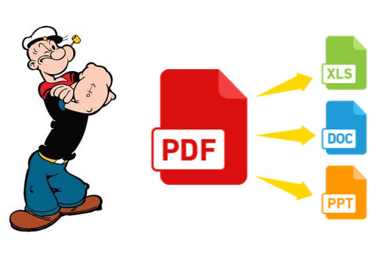 convert pdf to word, excel and powerpoint in 1 hour.