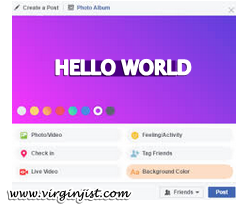 Facebook Background Color.
