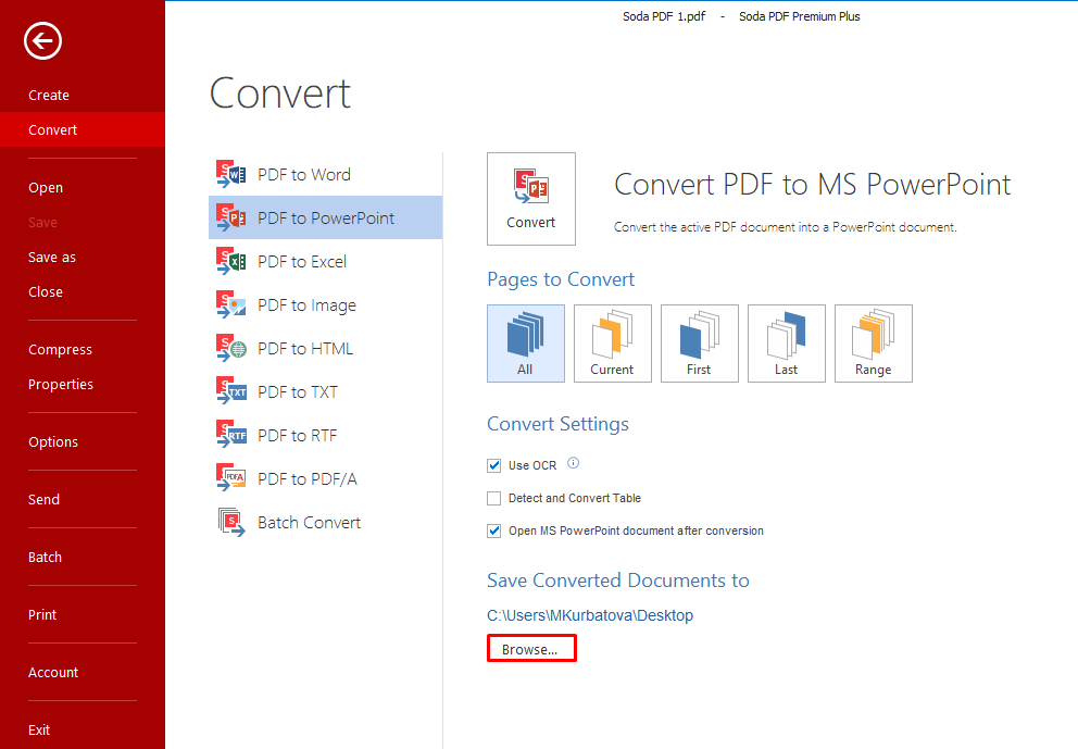How to Convert from PDF to PowerPoint.