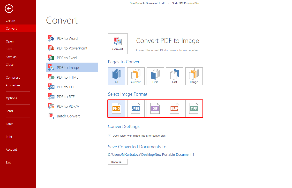 How to Convert from PDF to Image.