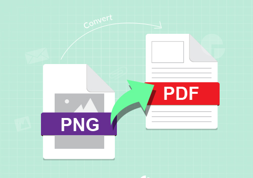 Conversion of png into pdf.