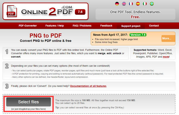 Convert PNG to PDF Online or on Windows/Mac for Free [2019 Updated].