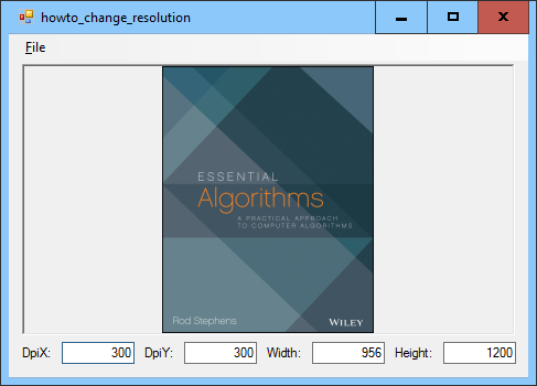 Change image resolution in C#.