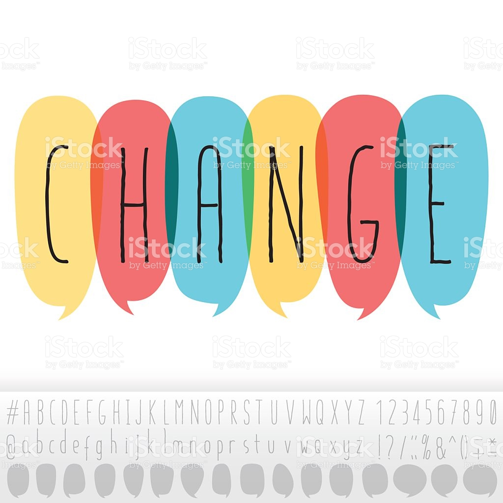 Change Text In Speech Bubbles With Alphabet Design Set stock.
