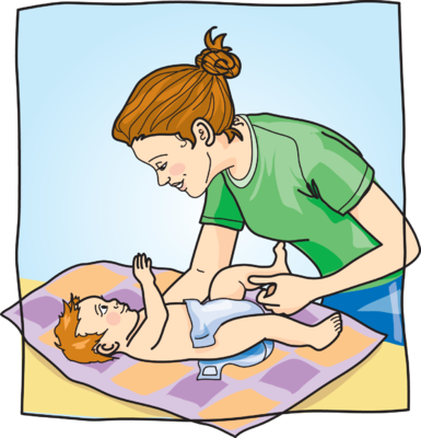 Baby Changing Clipart.