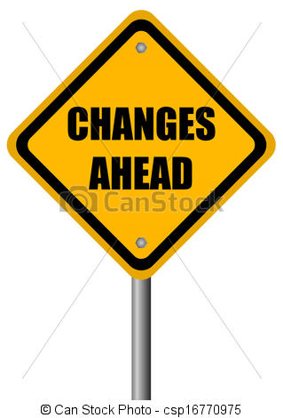 Stock Illustrations of Changes ahead sign csp16770975.