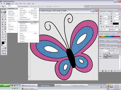 EJ Digital Scrapbooking Tutorials: Changing Color in Photoshop.