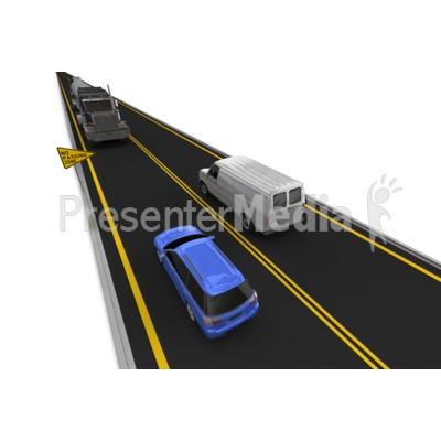 Highway No Passing Vehicle Left Lane.
