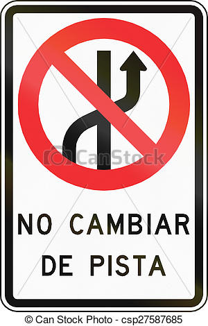 Pictures of No Changing Lanes In Chile.