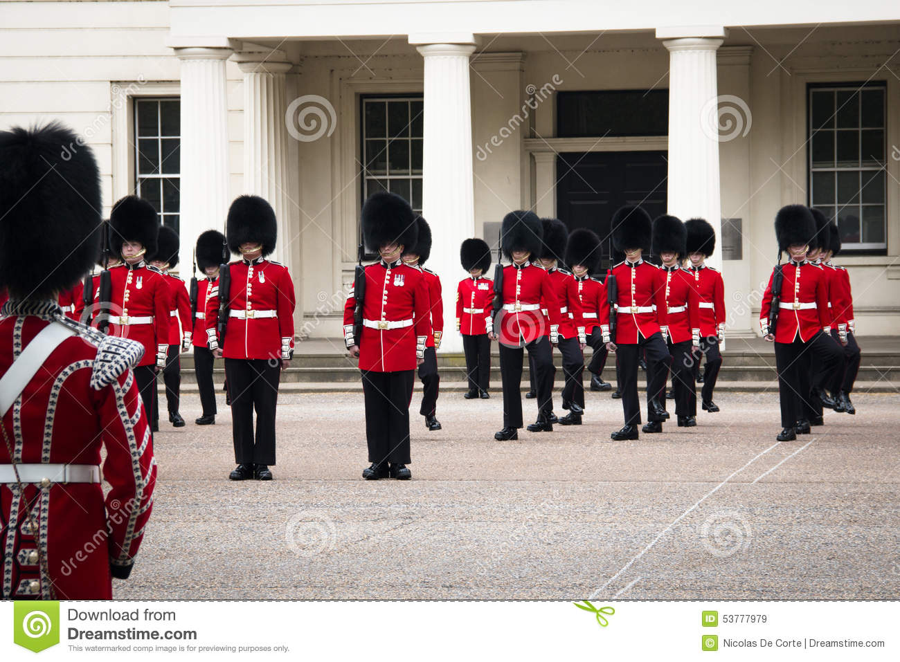 Changing Of The Guard Ceremony At Buckingham Palace, London, UK.