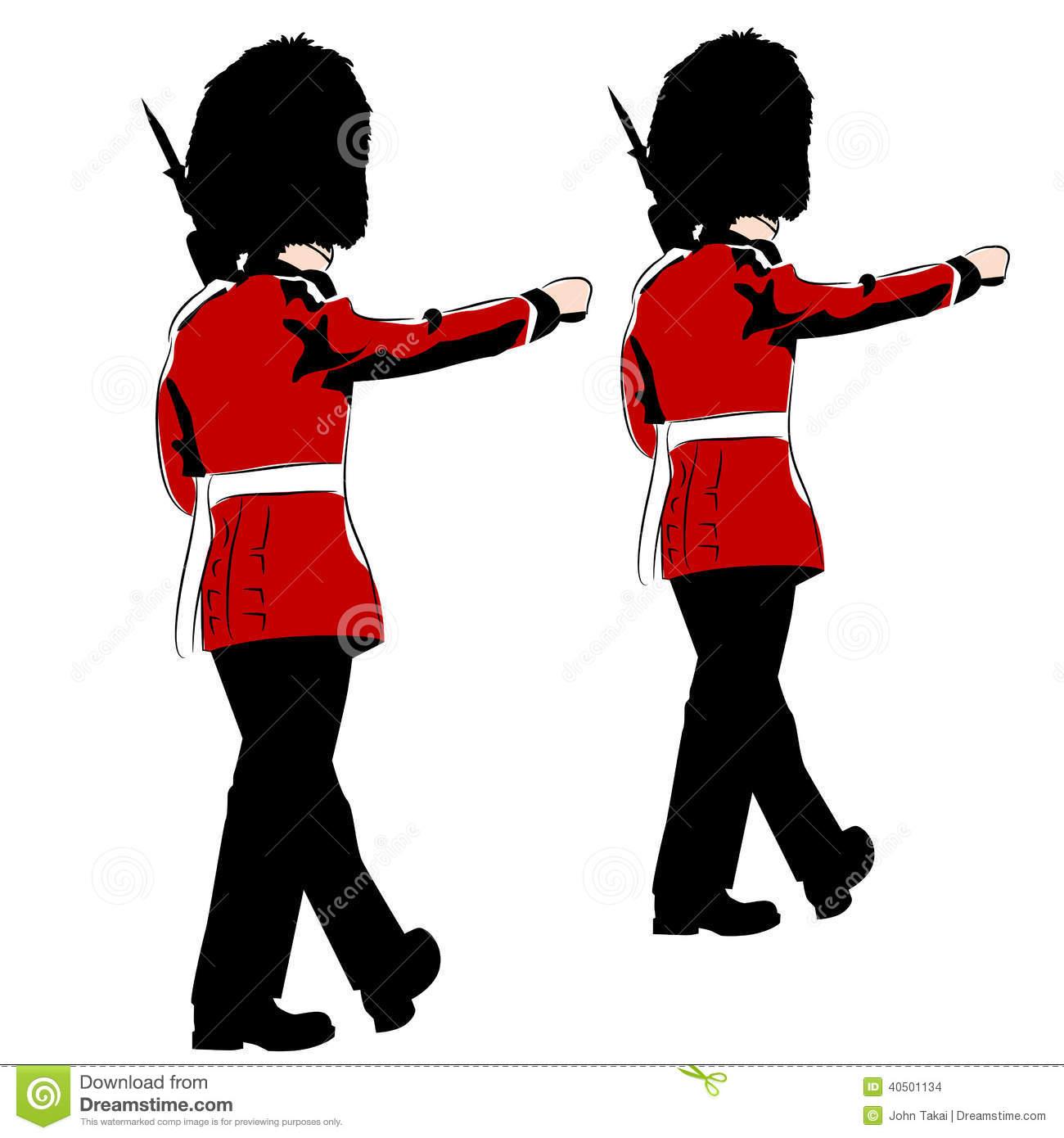 British Royal Guards Stock Vector.