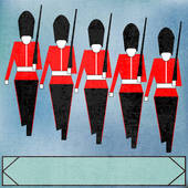 Clip Art of British Soldier On Guard Duty k16527967.
