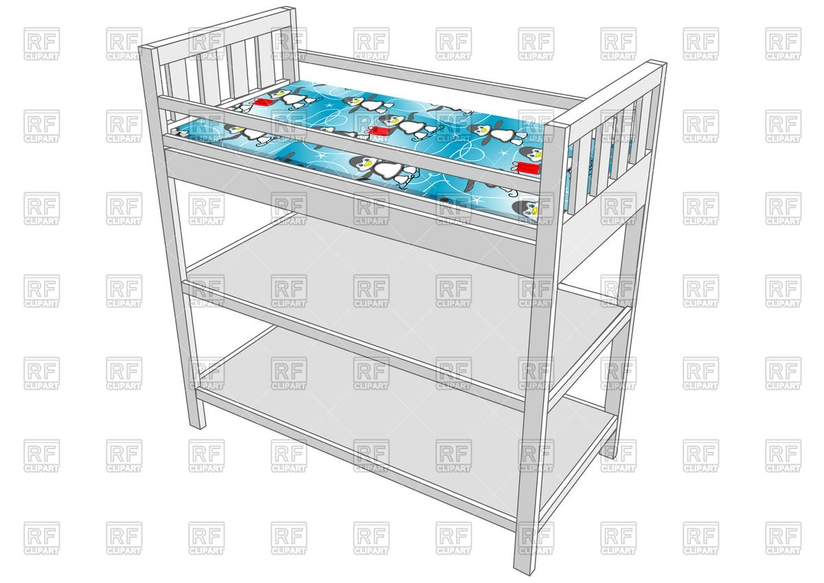Changing table isolated on white background Vector Image #48752.