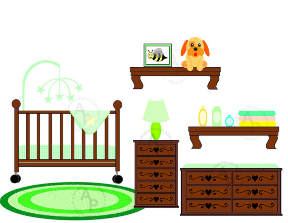 Changing Table Clipart.