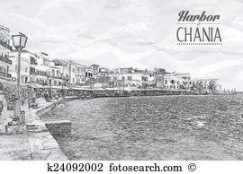 Chania Clip Art Illustrations. 25 chania clipart EPS vector.