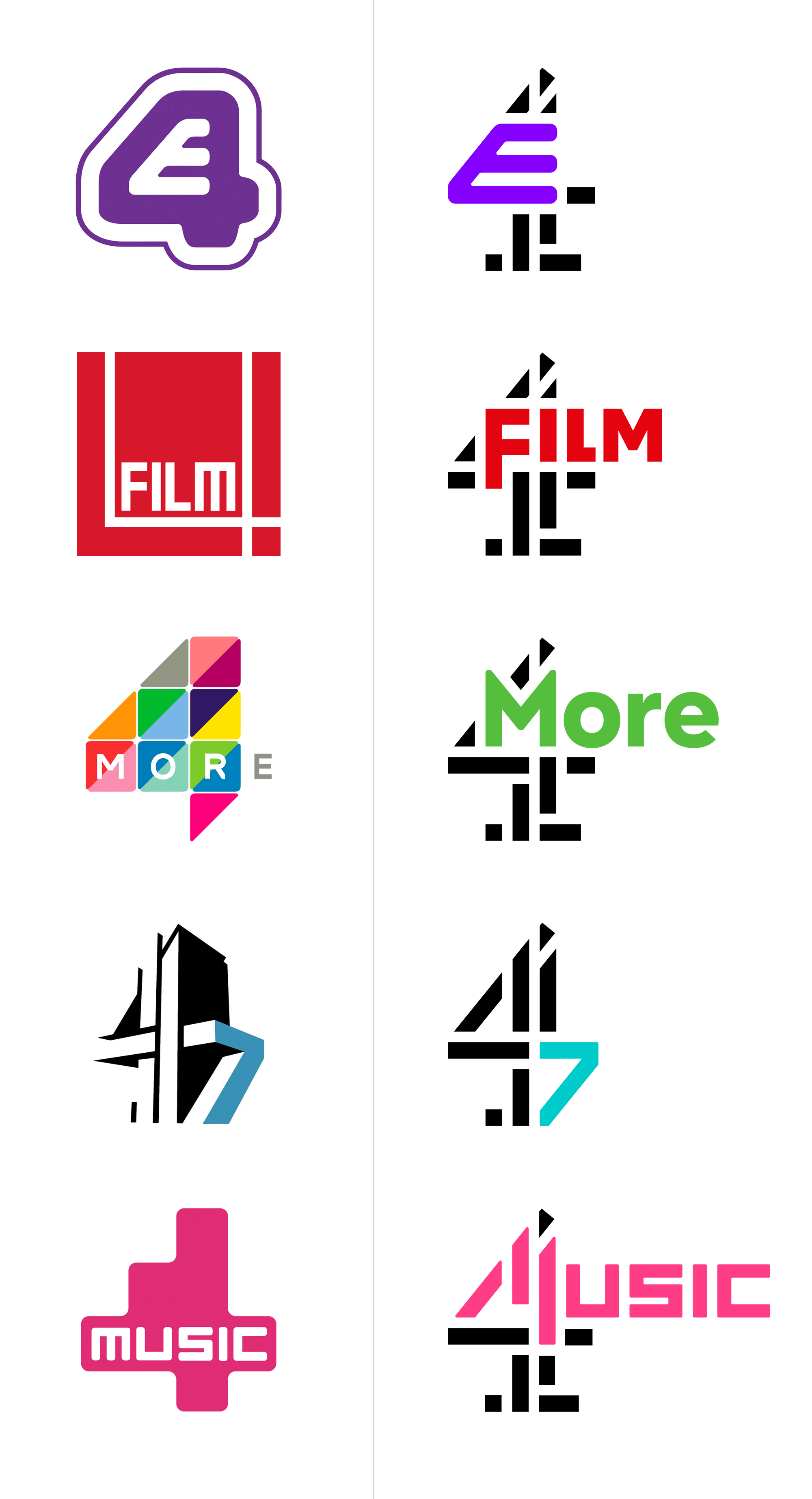 Brand New: New Logos for all Channel 4 by 4creative and.
