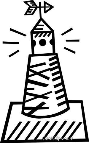 channel marker Royalty Free Vector Clip Art illustration.