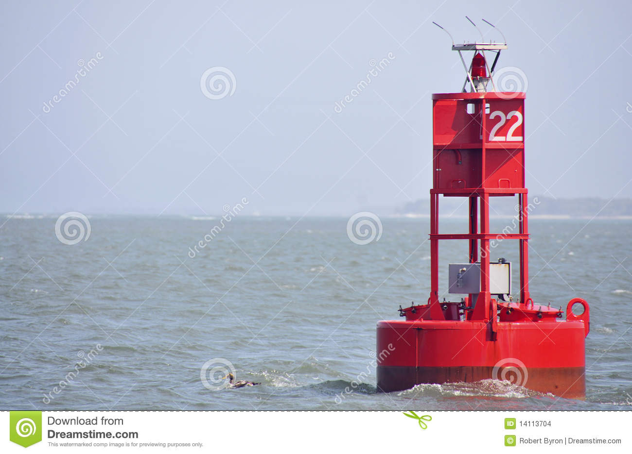 Channel Marker Stock Images.